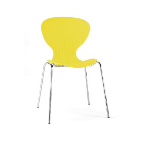 Bolero Yellow Stacking Plastic Side Chairs (Pack of 4) - GP508